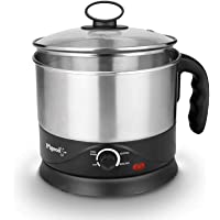 Pigeon by Stovekraft Kessel 1.2-Litre Multi-Purpose Kettle (Silver) 600W, Black