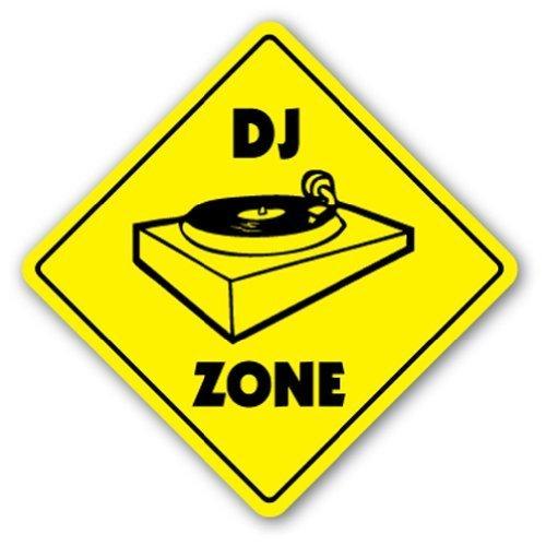 Home Decor DJ Zone Schild Schilder Turntables Gear Beleuchtung Mixer Metall Zeichen für Outdoor Yard Sicherheit Schild Aluminium Schilder