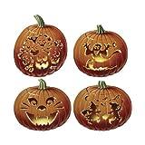 Generique - Halloween Pappbilder im Kürbis-Design Orange 36 cm
