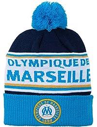 Bonnet pompon OM - Collection officielle Olympique de Marseille - Taille adulte homme TU
