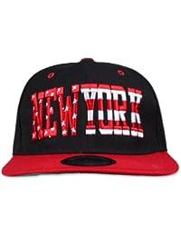 Original Snapback - New York Stars & Stripes, Schwarz, Rot, Einheitsgröße