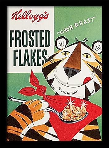 Kellogg's Vintage 30 x 40 cm Poster Encadré Frosted Flakes cm