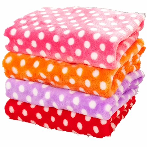 cuteco 1 PC Soft Berber Fleece Hunde Decke Hundematte Hundebett Colorful Dot Print Puppy Katze Kissen -
