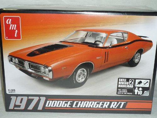 Dodge Charger R/t 1971 Coupe Orange Bausatz Kit 1/25 1/24 Amt Modellauto Modell Auto