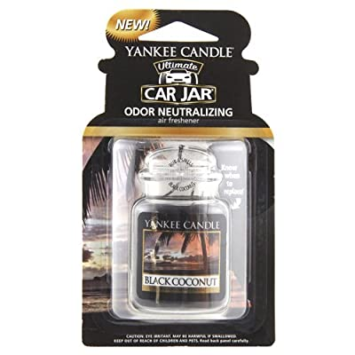 "Yankee Candle ""Black Coconut"" Ultimate Car Freshener Jar, Black from Yankee Candle"