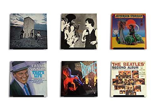 Lp Record Frame (LP Vinyl Record Wall Display | Black Satin | Display your daily listening in style | Four Pack)
