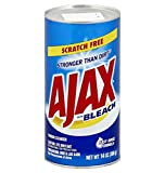 Directions: Wet Surface. Sprinkle Ajax® Cleanser Freely. Rub Lightly With Sponge To Make A Paste. Clean And Rinse. Use Ajax® On Pots And Pans, Porcelain, Bathroom Fixtures, Ceramic Tiles, And Even Tough Outdoor Items Like Barbeque Grills And Garbage ...