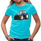 Traktoren Kinder T-Shirt - Traktor New Holland T7 by Im-Shirt - Azurblau Kinder 3-4 Jahre