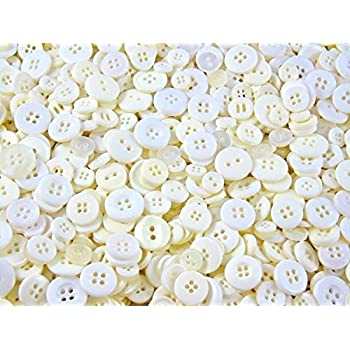 resin buttons approx 11mm clear round 2 holes 100 eye 50 150pcs