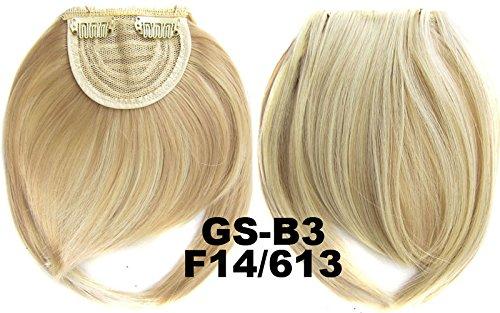 # 14 _ 613 F 100% fibre synthétique haute température Clip dans/sur cheveux avant frange frange cheveux