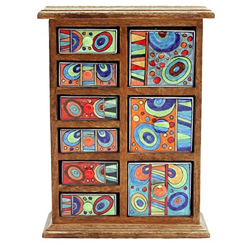 Gall & Zick Keramik Kommode mit 9 Schubladen