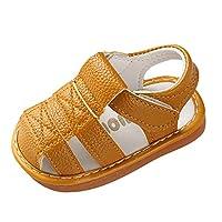 FRAUIT meisjesschoenen, kleine kinderen meisjes sandalen leer verlichte soft soled prinses unisex baby schoenen gesloten lederen sandalen zomer sandalen loopschoenen schoenen schoenen