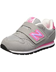New Balance Kv373Fli - Zapatillas unisex, color gris / rosa