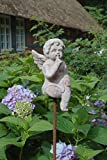 Charmanter Gartenstab, Beetstecker Engel im Antique Shabby Chic Stil