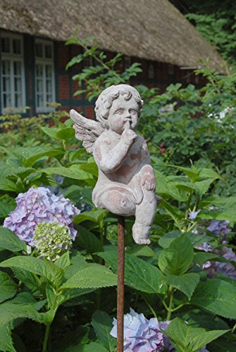 Charmanter Gartenstab, Beetstecker Engel im Antique Shabby Chic Stil