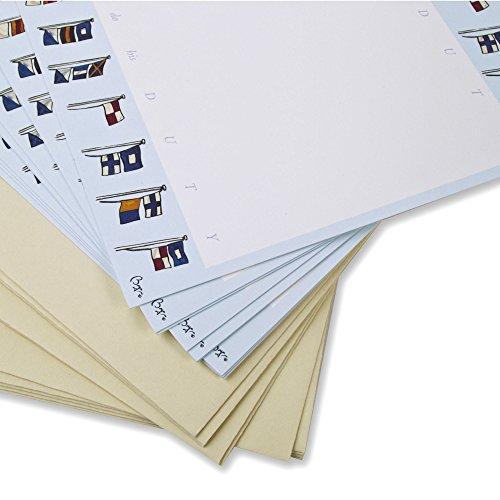 rten mit Umschläge. Nautische Flaggen Themed Cards von Bryn Parry. Ideal für Briefe, Thank You 's, Change of Address, lädt etc.. Geschenke Segeln (Nautische Hochzeit Einladungen)