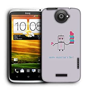 Snoogg Happy Valentine'S Day Printed Protective Phone Back Case Cover For HTC One X