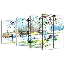 Cuadro sobre lienzo - 5 piezas - Impresión en lienzo - Ancho: 150cm, Altura: 100cm - Foto número 3035 - listo para colgar - en un marco - EG150x100-3035