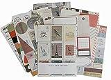 24 Sheets Tagebuch Scrapbook Album dekorative Aufkleber, Random Stil