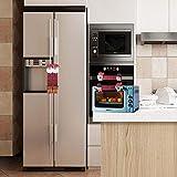 Cathy02Marshall Couvercle De Poignée De Micro-Ondes De Noël,8pcs Décoration De Noël pour La Maison Réfrigérateur Poignée...
