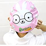 Jingboshi 2PCS cute Cartoon pattern design Mold Resistant impermeabile bagno doccia Cap Hat