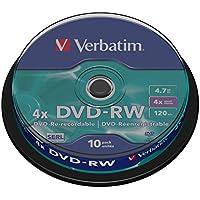 Verbatim 43552 - DVD-RW regrabables (10 unidades)