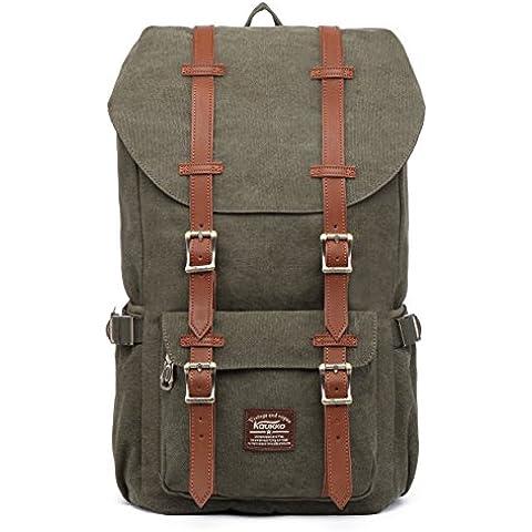 KAUKKO Unisex Mochila al aire libre con 2 bolsillos laterales para senderismo / Viajar / Escuela