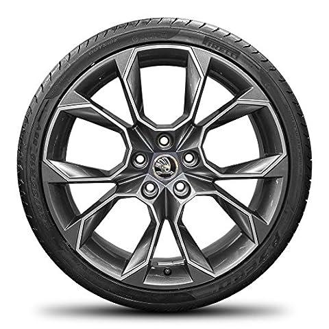 Skoda 19pouces jantes aluminium Octavia III RS 5e Xtreme Jantes pneus d'été été Roues