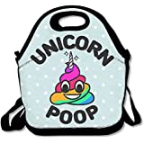Funny Cartoon Unicorn Poop Waterproof Lunch Tote Bag Insulated Reusable Picnic Lunch Boxes For Men Women Kids