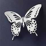 ALLDOLWEGE Kreative 3d-Dekorative Edelstahl Schmetterling Wandaufkleber Metall Carving Soft Dekoration drei-dimensionale Kühlschrank Magnet faltbar 20 cm entfernen