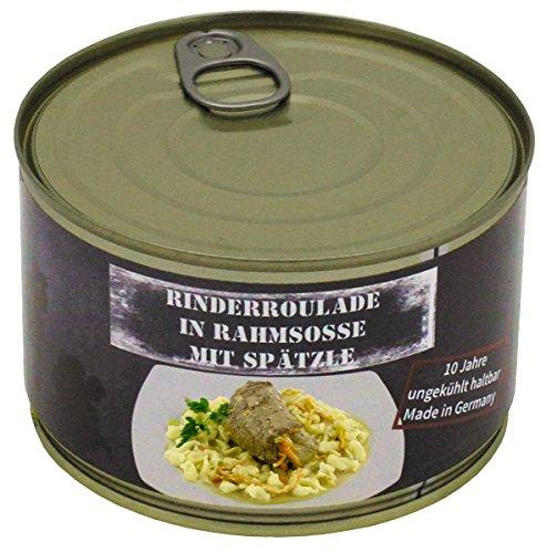 MFH Rinderroulade mit Spätzle, Vollkonserve, 400 g, 7% Mwst.