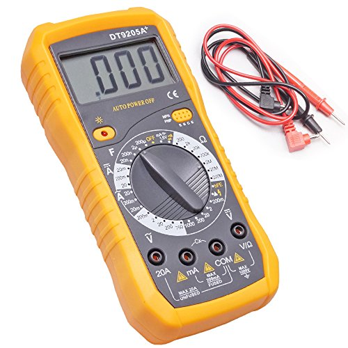 DT9205A Digital Multimeter Multimeter Capacitance Multi meter with Probes for Hardware Work Home and Shop  available at amazon for Rs.699