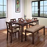 #8: HomeTown Artois Six Seater Dining Table Set (Walnut)