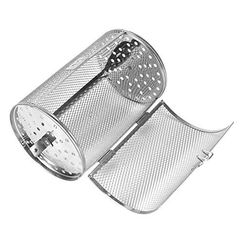 12x18cm Stainless Steel Oven Roast Basket Rotisserie Grill Basket Baking Rotary Nuts Beans Peanut Basket BBQ Grill Bakeware Test