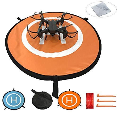 Boladge schützende Fast-Fold-Drohne Landeplatz Wasserdichte Helipad Schürze für Fernbedienung Hubschrauber Quadcopters (110CM)