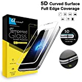 Ascension ® for Apple iPhone X/iPhone Xs Premium Series Matte 5D Tempered Gorilla Glass Screen Protector High Premium Quality 9H Hard 5D Ultra Clear (White) (Set of 1)