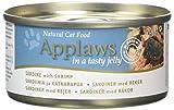 Applaws Cat Food Tin Sardine and Shrimp, 70g, Pack of 24