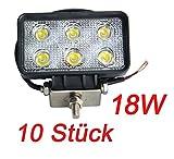 Miracle 18W LED Phare de travail SUV moissonneuse-batteuse Camion Pelle Tracteur Bateau Deck lumière (10)...