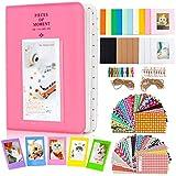 Amimy Album Photo Accessoires Bundles Set pour Fujifilm Instax Mini 7s 8 8+ 9 25 50 70 90, Polaroid PIC-300 Composants logiciels, HP Sprocket, Kodak Mini 3 Pouces Film (64 Poches, Flamingo Rose)...