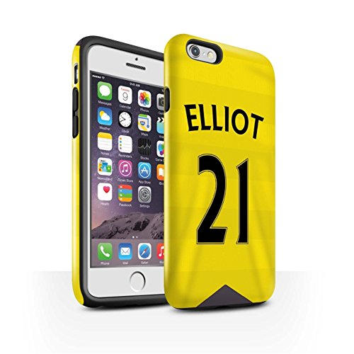 Offiziell Newcastle United FC Hülle / Glanz Harten Stoßfest Case für Apple iPhone 6S / Janmaat Muster / NUFC Trikot Home 15/16 Kollektion Elliot