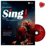 sing la nouvelle vocal school pour vous ganz easy et pas ? pas lehrbuch de petra scheeser avec cd et color? coeur note pince