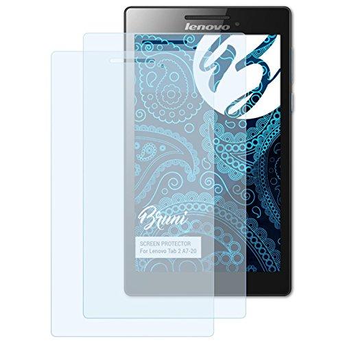Bruni Schutzfolie kompatibel mit Lenovo Tab 2 A7-20 Folie, glasklare Bildschirmschutzfolie (2X)