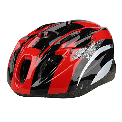 TOOGOO (R) Casco de Ciclismo Bicicleta Bici Proteccion Ajustable Color Rojo Talla L