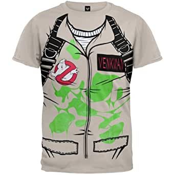 Ghostbusters - Mens Peter Venkman Costume T-shirt - X-Large Tan