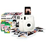 Instax Mini 8 White Instant Camera inc 40 Shots