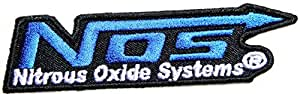 NOS Nitrous Oxide Systems Team Racing Car Logo Jacket T-shirt Ecusson brode Patch Sew Iron on Embroidered Emblem