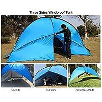 Shuzhen,Playa Canopy Carpa Sombrilla Patio Cabaña para Caminatas Camping Picnic Fiesta Familiar(Color:Azul)