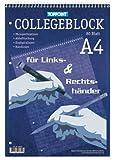 Toppoint Collegeblock DIN A4, für Rechts & Linkshänder, 80 Blatt, holz- und chlorfreies Papier, weiss (10er Packung, liniert)