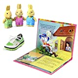 #9: Coi Combo Pop Up Puss in Boots Fairy Tales Story Book and Green Shoe, Rabbit 3D Erasers for Kids.