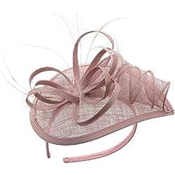Diadema para Mujer, Fascigirl Diadema de CóCtel Elegante Tocado de Boda Sombrero de Cambric
